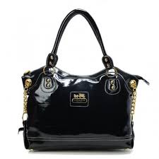 Coach Legacy Pinnacle Lowell Large Black Satchels ADR