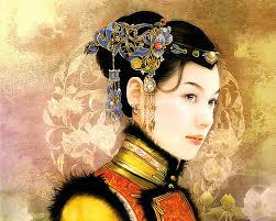... Art Illustration, Chinese Innocent Beauty, Chinese Accient Beauty, Art Illustration of Chinese Beauty in Ancient Costum, Qing Dynasty beauties ... - abr_der_jen_007