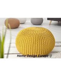 yellow pouf ottoman. Unique Pouf Bean Bag Yellow Pouf Footrest Ball Knit Crochet Pouf Poof Ottoman On Yellow O