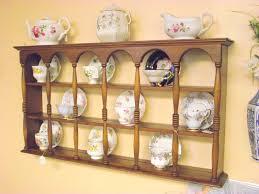 Tea Cup And Saucer Display Stand 100 Tier Display Teacup Saucer Curio Wall Shelf Cups Saucers 65