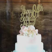 Mom Birthday Cake Topper Any Age Name Color 84th Birthday Etsy