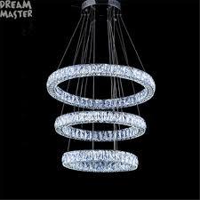 Us 2250 Kristall Lüster Led Kronleuchter Beleuchtung Villa Wohnzimmer Lange Kristall Ring Diamant Drei Seiten Hotel Industrielle Led Lampe In