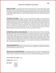 Study Sample Cover Letter For Warehouse Manager Position Warehouse