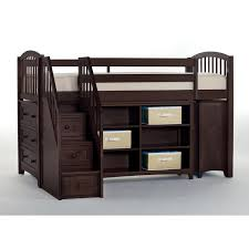 ne kids school house chocolate storage junior loft bed with stairs on now the simple s