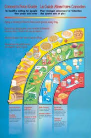 The Canadian Food Guide Chart Canada Food Guide Poster