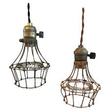 industrial steel wire cage pendant lights for light shade id f summer black wire cage pendant light