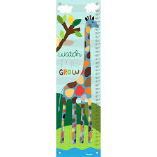 Oopsy Daisy Growth Chart Watch Me Grow Boy 12x42 By Lesley Grainger