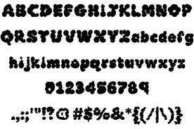 飾り文字 様々なデコレーションを施したフォントのフリー素材です