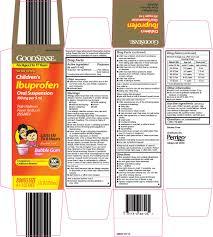 Perrigo Childrens Ibuprofen Oral Suspension Drug Facts