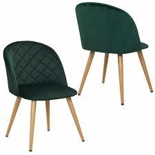 Duhome 2er Set Esszimmerstuhl Aus Stoff Samt Grün Stuhl