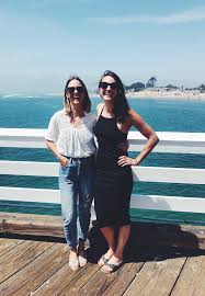 Christine Merrill and Aly Gill in Malibu   C'est Christine