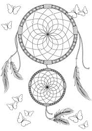 Disegno Di Acchiappasogni Indiano Da Stampare Gratis E Colorare