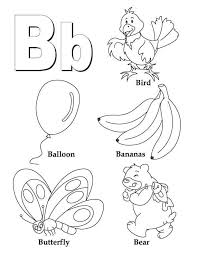 My A To Z Coloring Book Letter B Coloring Page Preschool Ideas