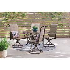 glass round patio dining sets