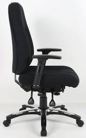 fabric office chairs with arms. Barcelona Deluxe Black Fabric Office Chair Chairs With Arms