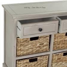 Wicker Basket Cabinet Herman 6 Drawer Storage Unit In Vintage Grey Color One Slice 4 Two