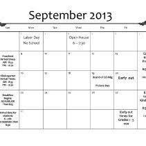 Monthly Calendar 2013 Frank Harnew Elementary School Calendar 2013 2014