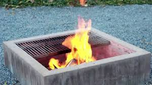 concrete patio with square fire pit. Modern Concrete Fire Pit YouTube With Regard To Pits Prepare 6 Patio Square