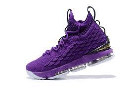 lebron purple shoes. 2017 cheap nike lebron 15 purple black gold for sale online-3 lebron shoes l