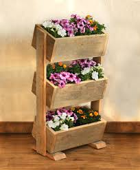Barn Wood Planter Box This 3 tier planter box makes the most of limited  space by