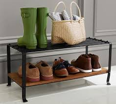 Decorative Boot Tray Shoe Tray Entryway Amazing Blacksmith Rack Pottery Barn Throughout 44