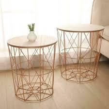 copper black metal wire round wood lift