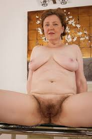 Older hairy nude woman