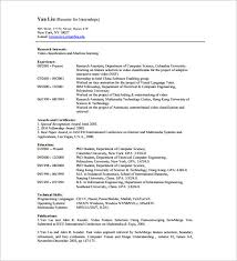 Resume Templates For Internship