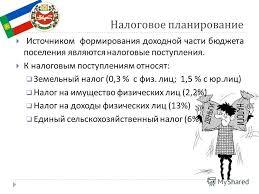 Презентация на тему Отчет по производственной практике  11 Налоговое планирование Источником