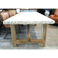 granite round table raw wood table top elegant granite top dining table with raw wood base