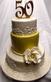 Simple 50th Wedding Anniversary Cake Ideas B65 In Pictures Selection