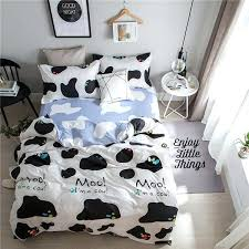 cow king bed cartoon white black cow pattern king size bedding sets luxury include duvet cover