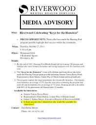 Media Advisory Riverwood Mhs Media Advisory 2011