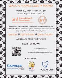 walk a hound lose a pound animal health foundation blog register for the animal health foundation walk at the irvine regional park in orange ca and enjoy vendors disc dog demos agility demos silent auction