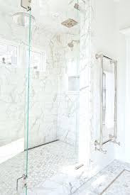 carrera marble shower tile white