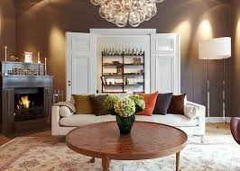 Modern And Minimalist Apartment Design In Chocolate Shades Decorating Cool Living Room Shades Decor