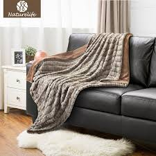 warmest blanket for bed. Wonderful Blanket Naturelife Super Soft Faux Fur Blanket Warm Pv Fleece Blankets Reversible  With Sherpa Shaggy Fuzzy Carved Rabbit Velour Throw Pale Yellow  To Warmest For Bed R