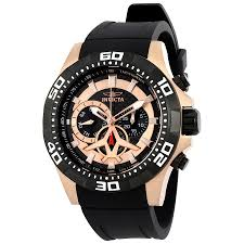 invicta aviator multi function black dial men s watch 21740