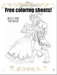 Small Picture Beauty and the Beast Free Coloring Sheets Beauty Through