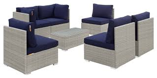 modern outdoor sectional sofa table set