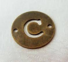 C - <b>1 Pcs</b> Antique Bronze Color 20 mm <b>Round Letter</b> Bracelet ...