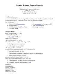 Cover Letter Resume For New Nursing Graduate Resume Objectives For