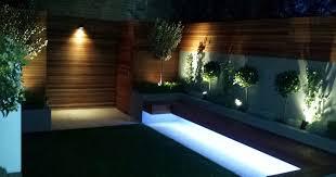 modern garden lighting. cool led lighting ideas led strip wall modern garden