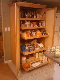 assorted five shelves then doors placed on cream tile ing free standing pantry cabinet and interior