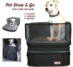dogs in car seat stow and go dog car seat covers halfords