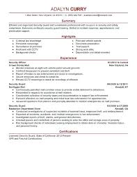 police officer resume examples no experience unforgettable security guard  to stand out law enforcement and sample