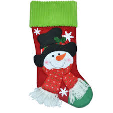 holiday time christmas decor 20 applique snowman with top hat stocking walmart