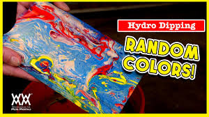 hydro dipping how to paint a fun color effect on wood