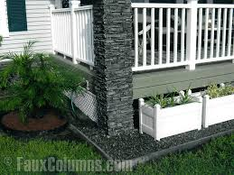 Charming Making Front Porch Column Covers Is Easily Done With Faux Stone.