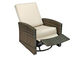 wicker patio swivel rocker chair recliner outdoor rocking cushions